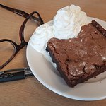 Chocolate Brownie with Cream