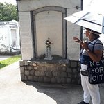 This was our cemetery tour guide.