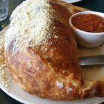 Giant Calzone with Parmesan and Sauce
