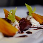 Our Roasted Beet Salad is to die for, perfectly selected Beets served with local goat cheese
