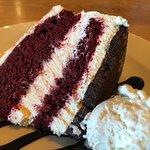 Red Velvet Cheesecake with Ice Cream
