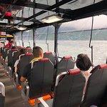 忍者バスに乗って車内からパチリ!