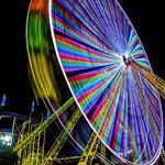 A couple long exposure pictures of the Ferris wheel.