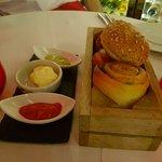 Homemade Bread Rolls & Condiments