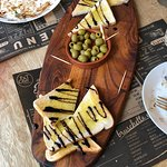 Olive and bread board