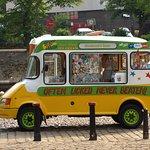 An ice cream van in Dame Judi Dench Walk