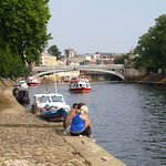 River Ouse and Lendal Bridge at the foreground