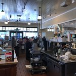 Interior of open kitchen at Oakville Grocery in Oakville.