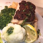 roast cod with black olive and sun dried tomato marmalade
