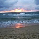 Coucher de soleil à la plage des Mouettes