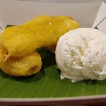 Fried Banana with Vanilla Ice Cream