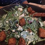 Arugala salad, homemade croutons, wow!
