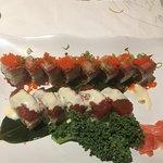 Spicy Tuna crunch roll and Dynamite Roll