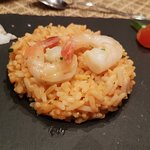 Risotto Starter Reduced in Shrimp Juice and Shrimps - Armatic Flowers for Flavour
