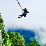 Swing overlooking the volcano