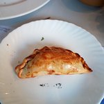 Empanada Argentina as a starter. With meat inside.