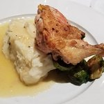 roasted free range chicken with brussel sprouts and mashed potatoes