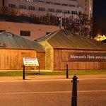 Mawson's Huts replica next to Constitution Dock.