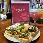 Chamo's Street Tacos and Rifle Berry-Berry Margarita.. A pride of the house