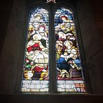 """Stained Glass Window,St Alban""""s Church."""