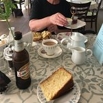 Scone and lemon drizzle cake