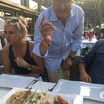 Carpaccio mit Steinpilzen perfekt-die beste Fischsuppe ever-Spagetti in Perfektion-toller Blick-