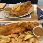Excellent fish and chip meals