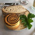 Breads and geranium leaf