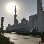 Sun goes down at the Moschee