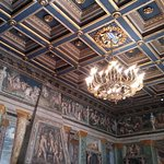 Decorated ceiling at the Villa Farnesina in Rome