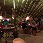 """inside Bloody Mary's """"tent-like"""" restaurant"""