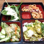 Bento box with green curry