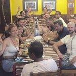 Italian group enjoying Newari Bhooj (local Cusine )