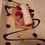 dessert millefeuille chocolat framboise