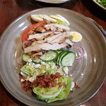 Here is my pathetic $16.00 Chicken Cobb salad from Log Cabin Inn.
