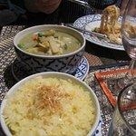 Thai jasmine rice with Thai green curry