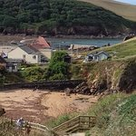 Looking down to Hope Cove