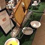 Fresh honey with breakfast