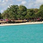 vue de la plage de la Cuvette depuis le bateau