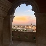 The view from Fisherman's Bastion overlooking to the Pest side.