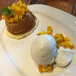 Mango Dessert with Basil Ice Cream