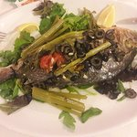 Lovely dinner with delicious sea bream
