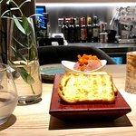 Я в восторге от ресторана! На фото комплимент шефа - лимонный сорбет, говядина с баклажанами и п