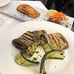 grilled vegetables and salmon