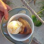 Rum cake and vanilla gelato