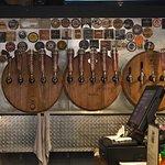 Tap handles behind the bar