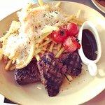 Steak and truffle fries