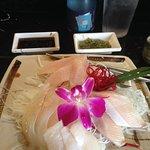 Hamachi sashimi with ponzu sauce