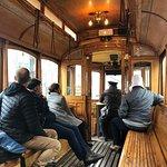 inside of a tram