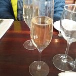 Sparkling wine to celebrate.